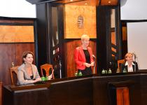 Dr. Némethné dr. Szent-Gály Edit - a Veszprémi Törvényszék Elnöke, Dr. Czine Ágnes - az Európai Jogi Szaktanácsadó Bírák Egyesületének Elnöke, dr. Litkei-Szabó Anita titkár